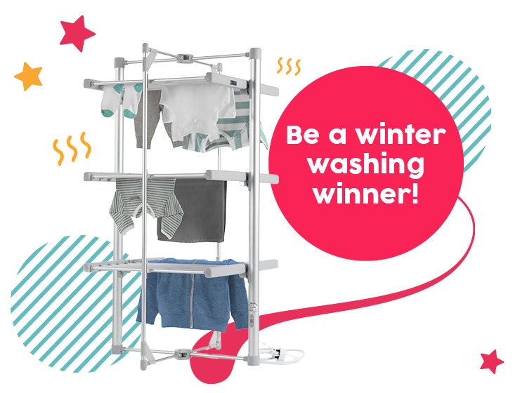 WIN a Deluxe Heated Laundry Airer